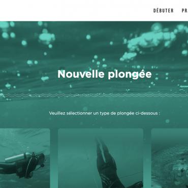 Ecran création de plongée CROMIS vert