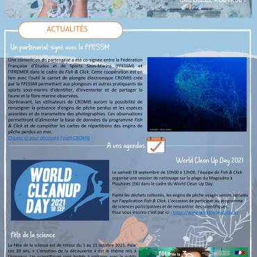 IFREMER Newsletter programme Fish&Click page 1